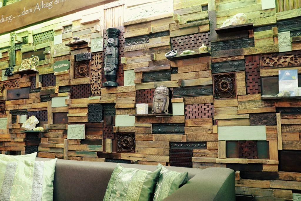 Holzmosaik Nahaufnahme